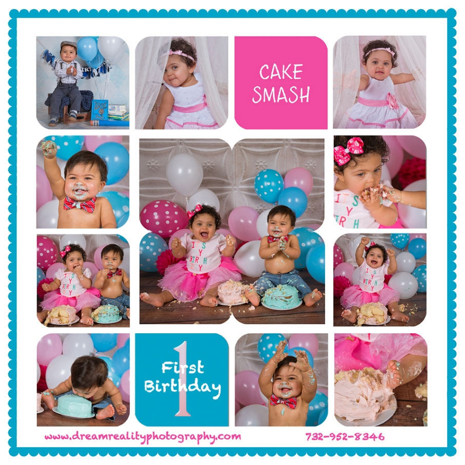 Twin Cake Smash! { Baby's First Birthday Portraits
