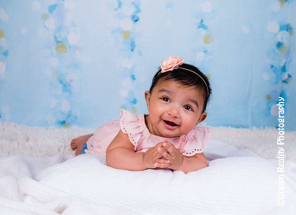 Big hugs all sweetness 5 months old girl baby milestone edison nj middlesex county nj newborn children photographer studio dream reality