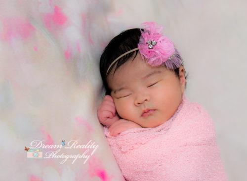 Newborn girl floral studio dream reality photography jackson nj 6