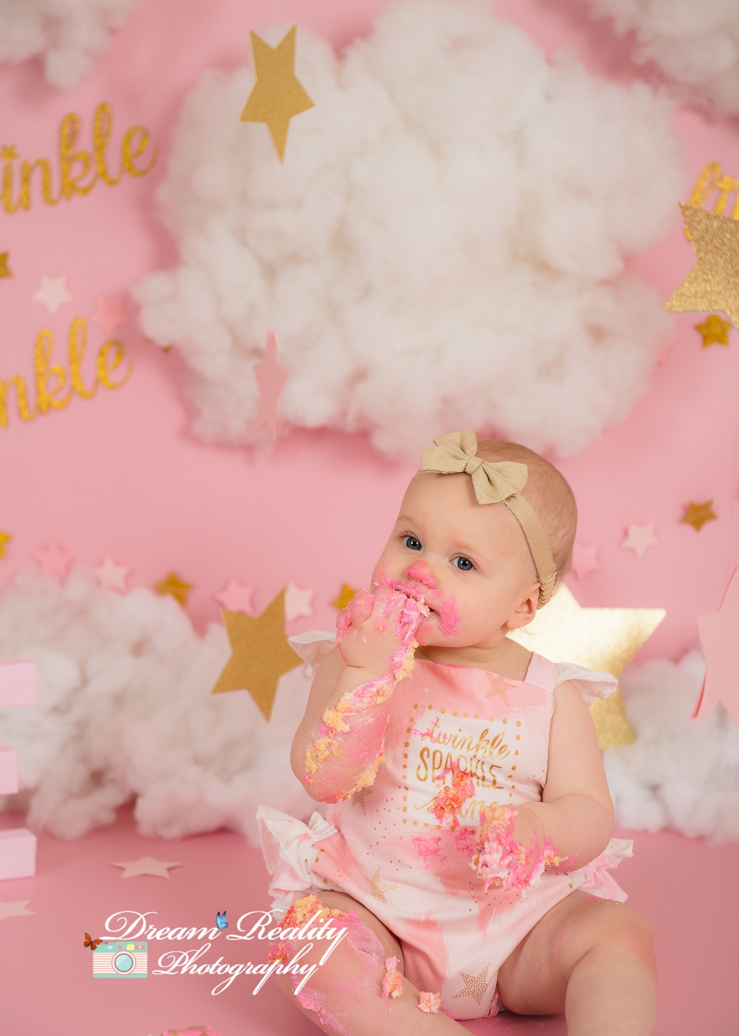 First Birthday Girl Cake Smash Twinkle Twinkle Little